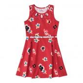 Vestido Floral Vermelho para Criança