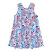 Vestido Infantil Floral Azul