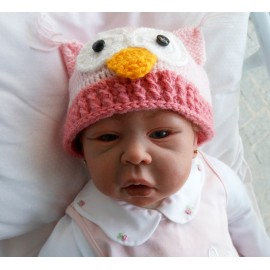 Touca para Bebê - Coruja
