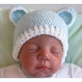 Touca para Bebê - Ursinho Azul