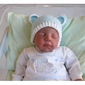 Touca de Bebê Ursinho Azul