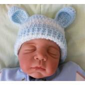 Touca para Bebê - Ursinho Listrado Azul