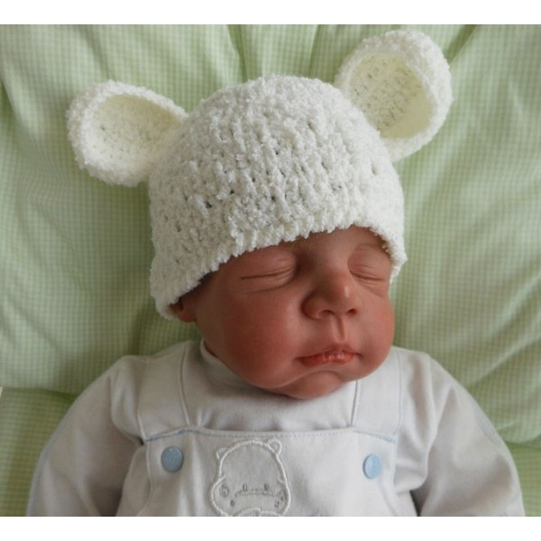 Touca para Bebê - Ursinho Polar