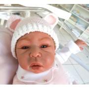 Touca para Bebê - Ursinho Rosa