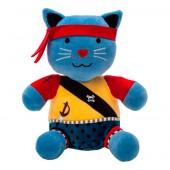 Bichinho Pelúcia Gato Pirata Capitão Mimo Plush Antialérgico Brinquedo para Bebê Zip Toys com Certificado do Inmetro