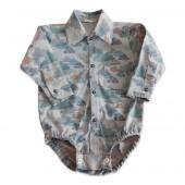 Body Camisa para Bebê Estampa Nuvens