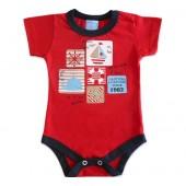 Body Bebê Manga Curta Marinheiro