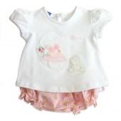 Conj. Bebê Bata e Calcinha Babadinho Floral Chicco
