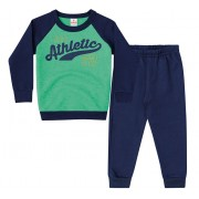 Conj. Moletom Verde Athletic Menino