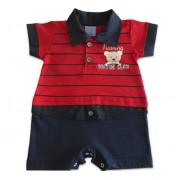 Macacão de Verão Para Bebê Urso Marinheiro