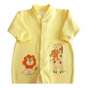 Macacão de Bebê Amarelo Safári