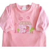 Macacão Rosa e Body para Bebê Menina