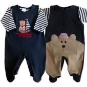 Macacão de Bebê com Body Urso Marinheiro