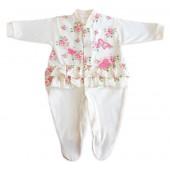 Macacão Longo de Bebê Floral