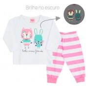 Pijama de Bebê Que Brilha no Escuro para Menina