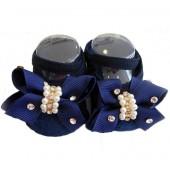 Sapatilha Azul Marinho - Laço com Pérolas e Strass