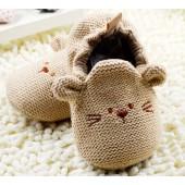 Sapatinho de Bebê Bege Alpargata de Tricô