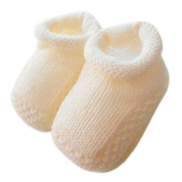 Sapatinho de Tricô Cru Unissex para Bebê