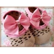 Sapato de Bebê com Antiderrapante Oncinha