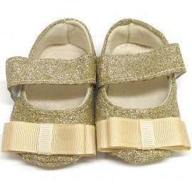 Sapatilha de Bebê Dourada