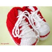 Tênis de Crochê All Star Vermelho para Bebê